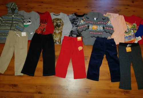 NWT TODDLER BOY'S CLOTHES LOT ~SIZE 3T~ FALL/WINTER L/S TOPS SWEATER PANTS