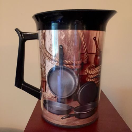Vintage West Bend Pitcher Thermo Serv Coffee Pitcher Cafe Pot & Pan Design LARGE