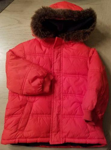 Gymboree SKI SCHOOL Orange Hooded Puffer Coat/Jacket sz 2T-3T VGUC BOYS