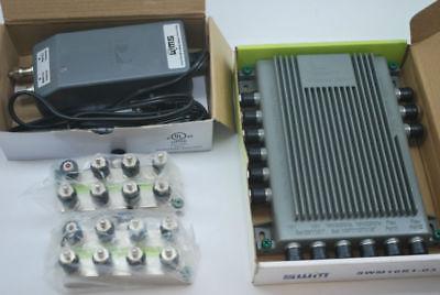 NEW SWM 16 MULTISWITCH SWM16R1-03 W/ POWER SUPPLY & TWO 8 WAY SPLITTERS GREEN