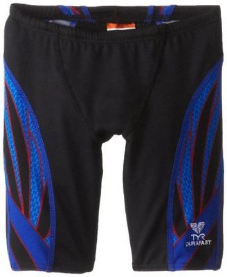 TYR Boy's Phoenix Splice Jammer Swimsuit (Black/Blue/Red, Size 22)