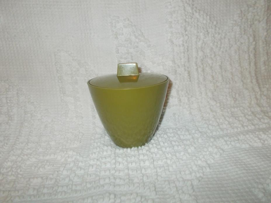 Vintage Allied Chemical Melmac Sugar Bowl With Matching Lid Avocado Green