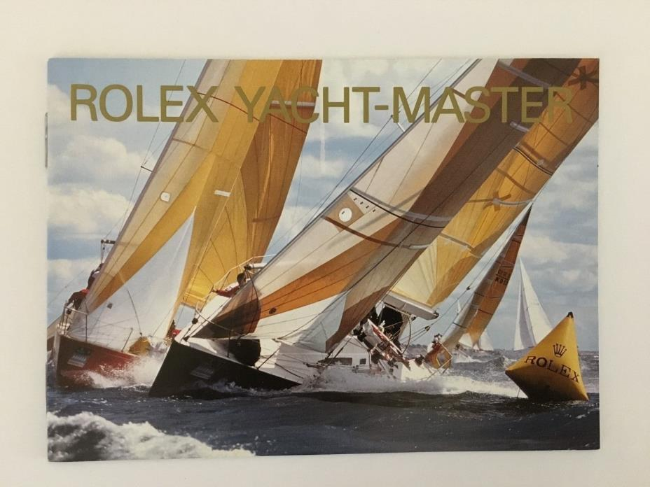 Original ? ROLEX YACHT-MASTER Booklet Dated 600.52 Eng 11. 2002 USA Booklet Only