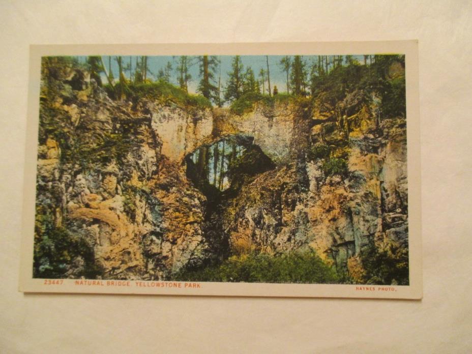 Natural Bridge Yellowstone National Park Postcard