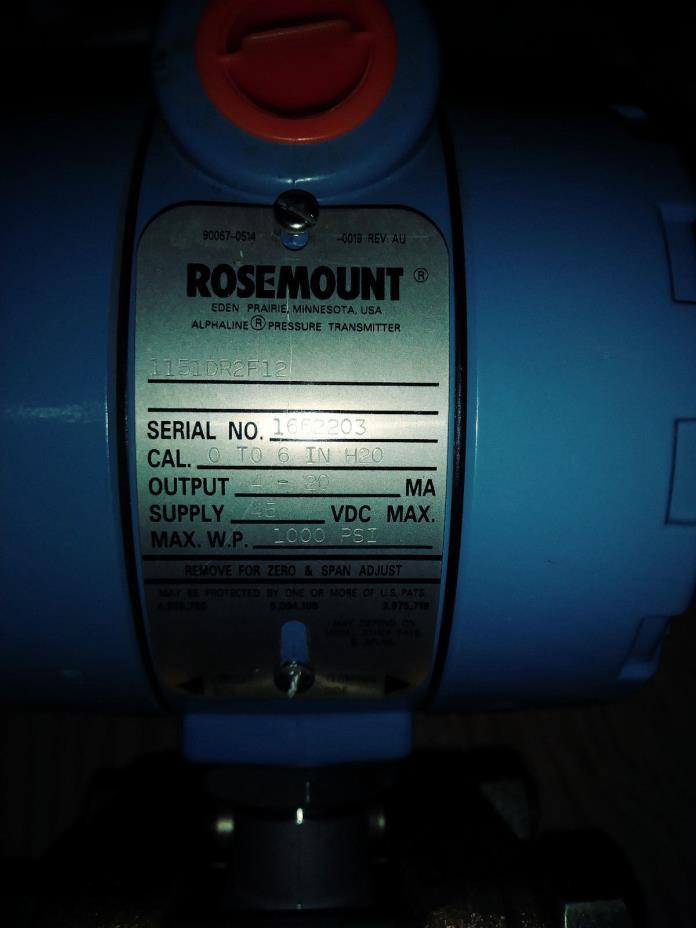 Rosemont Pressure Transmitter 1151DP4J12B1