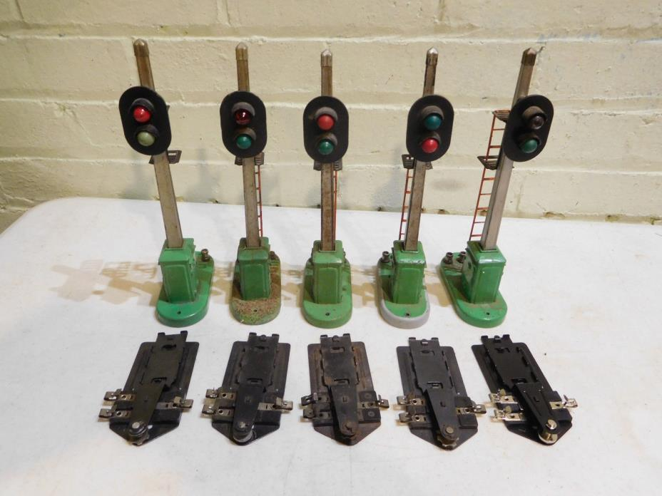 Set of 5 Lionel Postwar 153 Automatic Block Signal & 153C Controller Clips