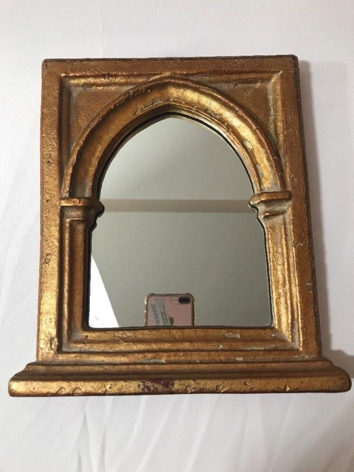 Michael Kulicke Collection Home Decor Gold Gothic Arch Frame Mirror Wall Hanging