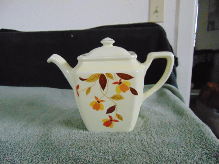 HALL'S SUPERIOR KITCHENWARE - AUTUMN LEAF - TEAPOT  - SQUARE