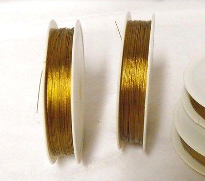 80M Soft Flex Golden Beading Wire 0.38mm Width R30