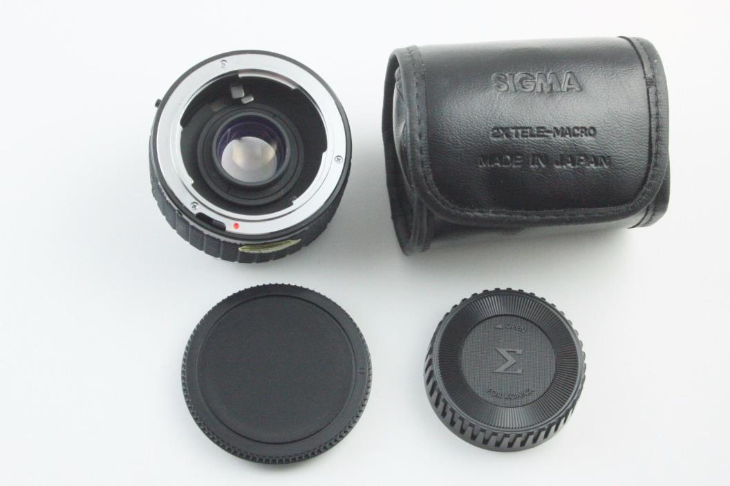190425 Sigma 2X Tele-Macro Teleconverter for Konica 35mm SLR Cameras