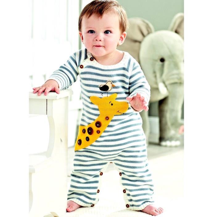 Mud Pie Baby Boy Infant Giraffe One Piece Long Romper Size 3-6 Months Look!!