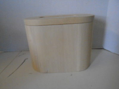 Blonde Wooden Ice Bucket Plastic Insert Tongs Contemporary