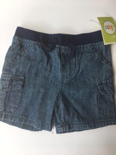 Cherokee Baby Boys Blue Elastic Waist Shorts Size 0-3 Months
