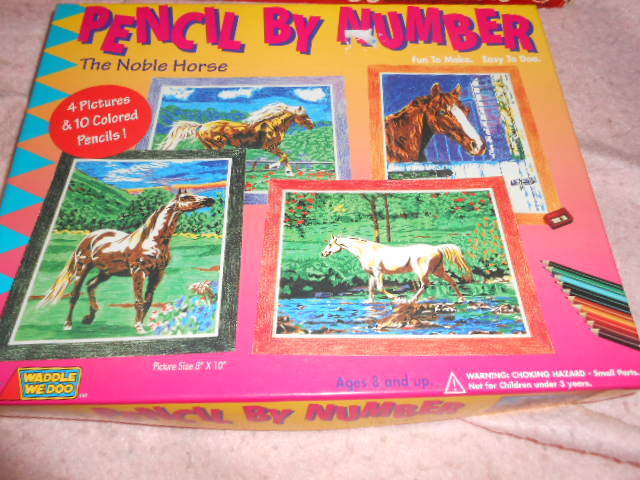 Pencil by Number The Noble Horse by Waddle We Doo