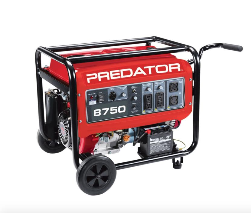 Predator 8750 7000 Watt Generator New 13 HP (420cc) w/BATTERY AND CART INCLUDED!