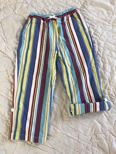 Hanna Andersson Striped Roll Up Pants Size 110 Size 5 Cotton Boys Toddler
