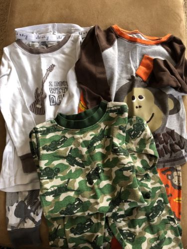 Lot of 3 pair Baby Boy toddler 3T Pajamas PJ's Jammies long sleeves