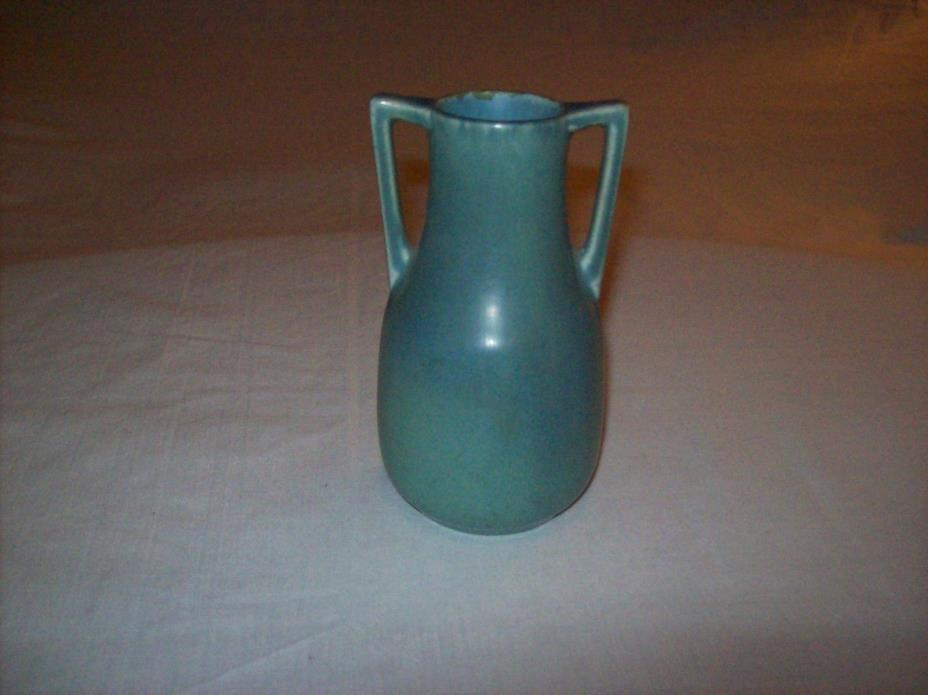 Vintage Rookwood Pottery Two Handled Vase Blue Green Number 2562 XXIII