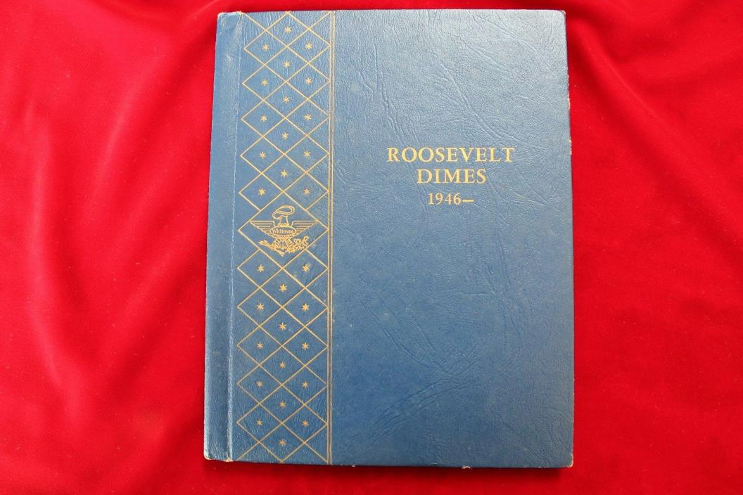 USED ROOSEVELT DIMES 1946-1961 WHITMAN 9414 COIN ALBUM, USED BUT PRICED RIGHT,#D