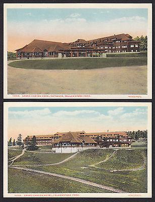 2-Yellowstone National Park-Grand Canyon Hotel-Entrance-Haynes-Postcard Lot