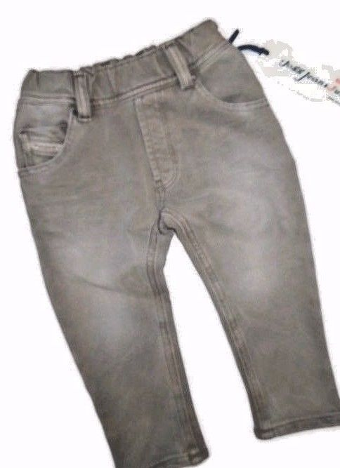 DIESEL Infant Baby Boys Krooley Jogg Gray Denim Jeans 24 M month $185