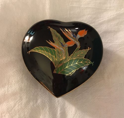 Otagiri Japan Bird Of Paradise Trinket Box