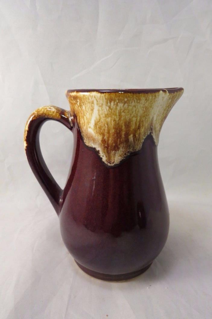 Vintage Roseville Brown Drip Glaze Pitcher  Robinson Ransbottom Pottery CO RRP