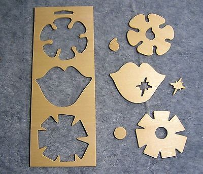 Unfinished Wood Frame & Punchout Shapes for Painting & Crafts -Retro Girl Flower