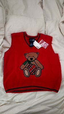 Boy's holiday sweater vest, size 4/4T, new with tags