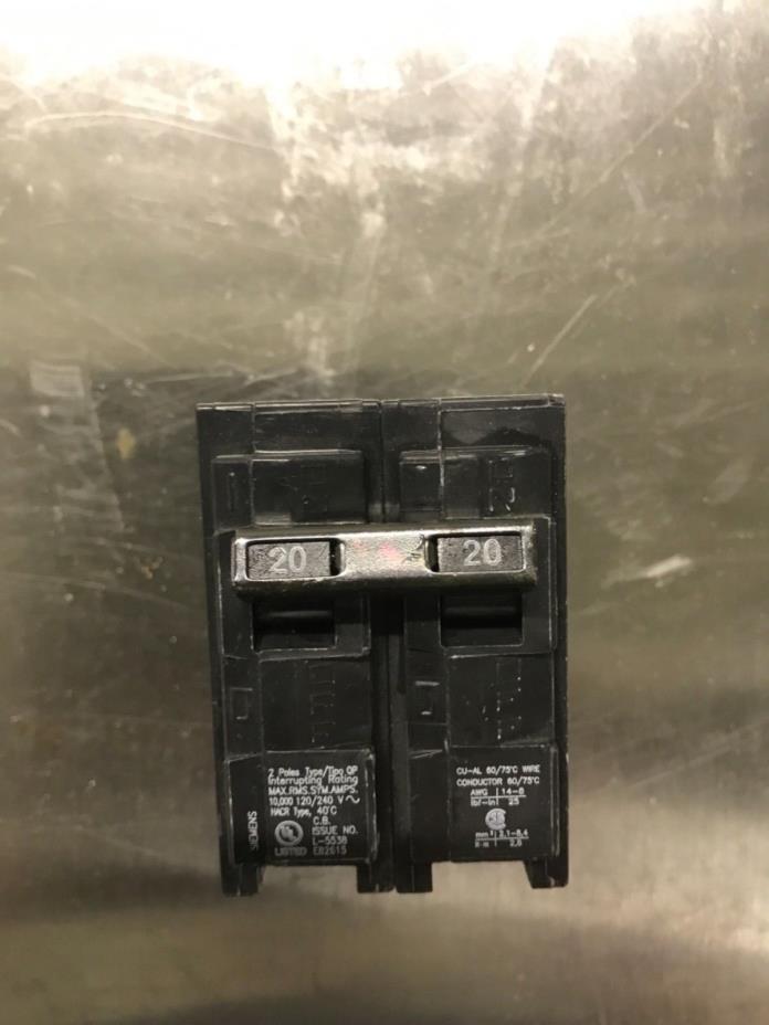 New Siemens Q220 20-Amp 2 Pole 120/240-Volt Circuit Breaker