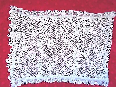 Antique hand made French pillow sham creme color circa 1900's