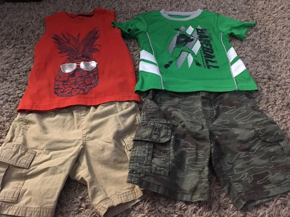 Brand Name Toddler Boy Summer Shirt Top Shorts Lot Size 3T