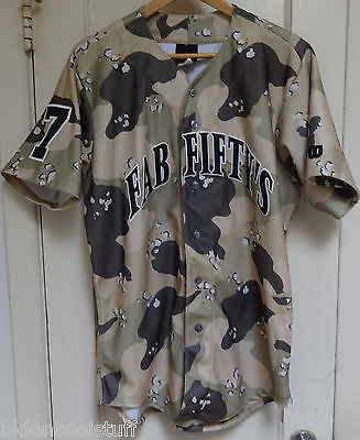 #9 FAB FIFTY's Game Used Worn Tackle Twill Sewn CAMO Wilson Jersey Sz 42