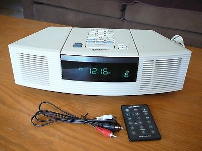 Bose Wave Radio CD Player Platinum White  AWRC-1P W Remote NEW CD LASER