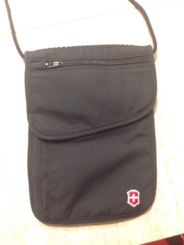 Victorinox Swiss Army Travel Wallet Neck/Belt Passport Pouch Black
