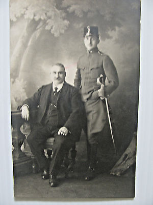 RPPC WWI German Soldier, Army, Sword, Military Real Photo Post Card, War