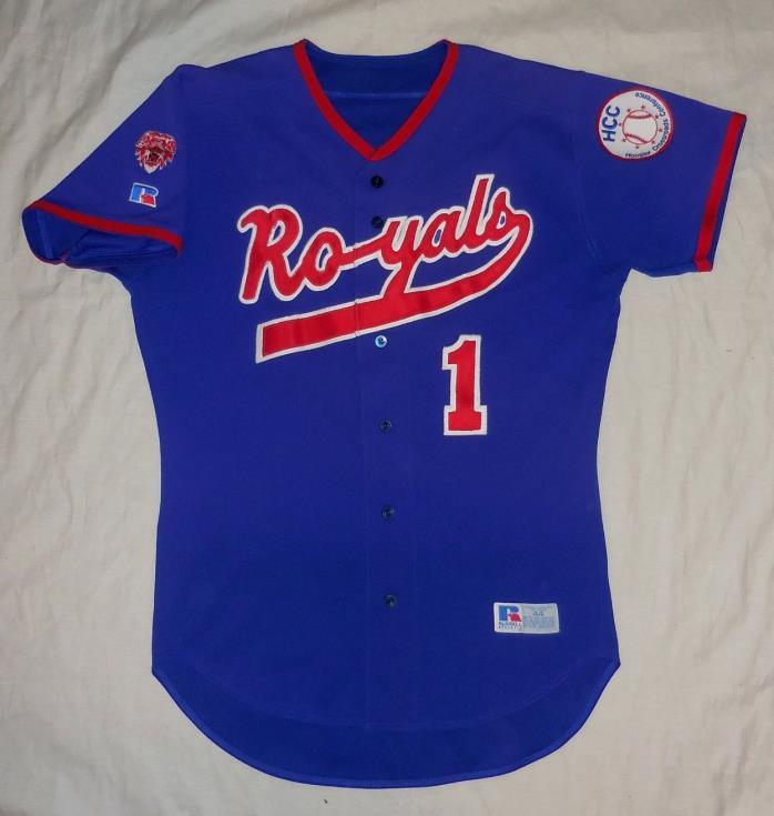 2000s Hamilton Southeastern Royals Game Worn Baseball Jersey, Fishers, Indiana