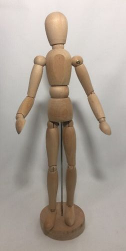 "13"" Wooden Manikin Posable Drawing Model With Stand"