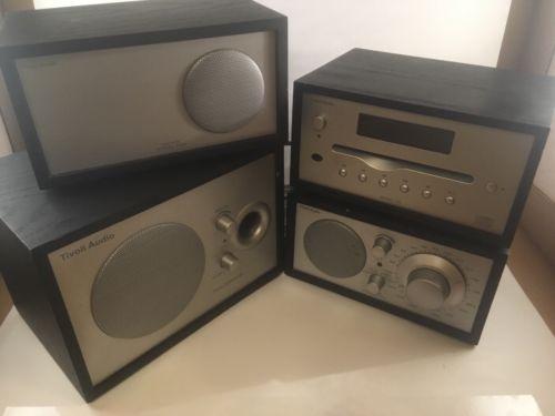 Tivoli Henry Kloss Model Two AM/FM Radio CD Subwoofer System Black