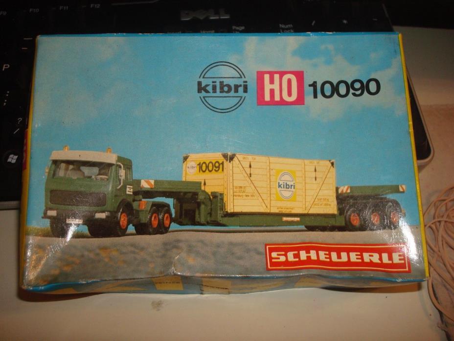HO  KIBRI  LOWBOY TRACTOR TRAILER
