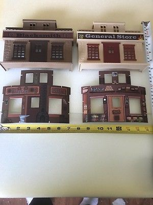 G-scale 1/32 Set of 2 Building False Fronts With Rear Printed Decoration   NEW