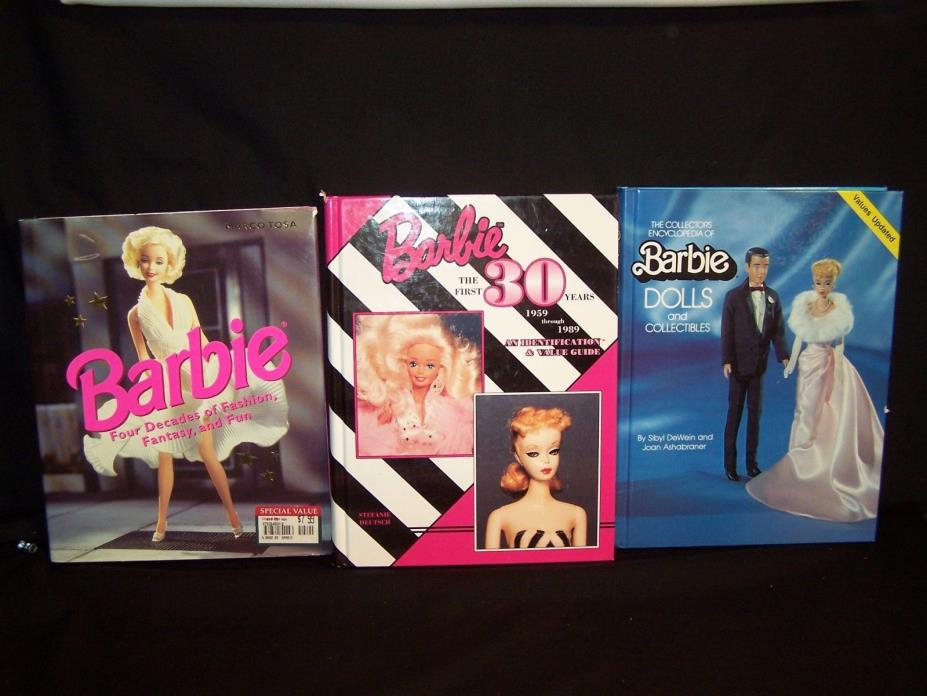 Barbie Doll Book Lot: Barbie 4 Decades, The First 30 Years, Doll & Collectibles
