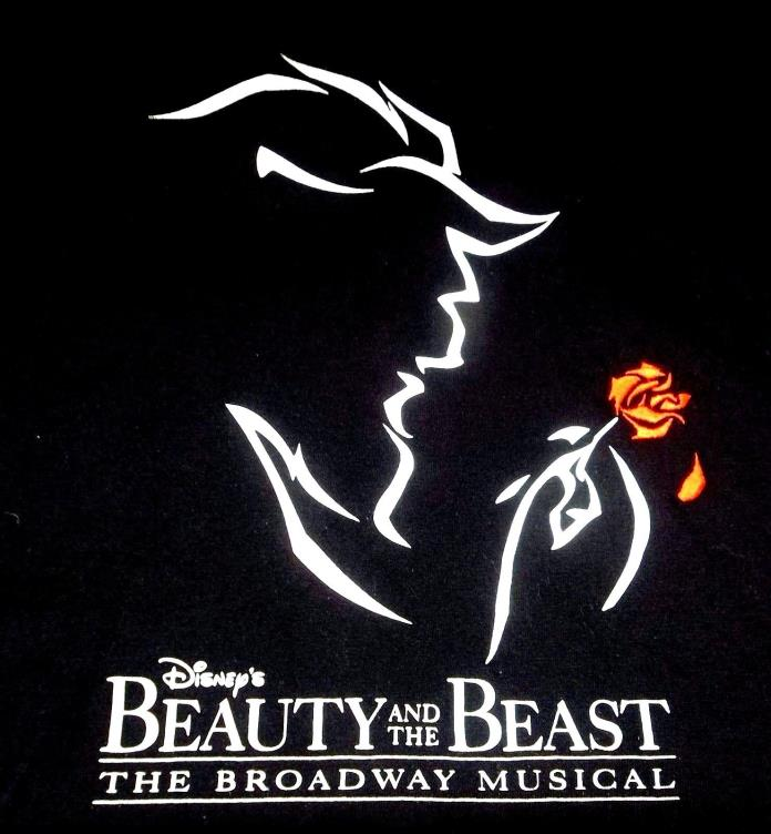 Disney's Beauty And The Beast The Broadway Musical T-Shirt Adult M Medium