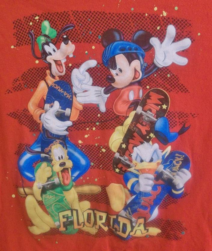 Disney's Mickey Mouse Florida T-Shirt Youth XL X-Large Donald Pluto Goofy