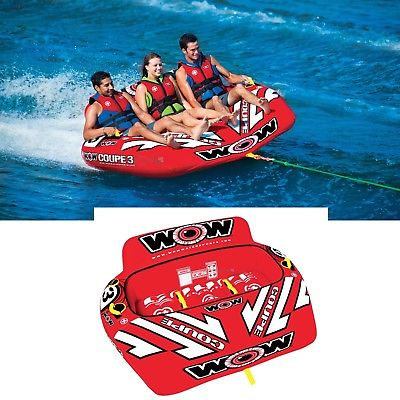 Wow 15-1040 Coupe Cockpit 3 Person Rider Water Tube Inflatable Towable Lounge