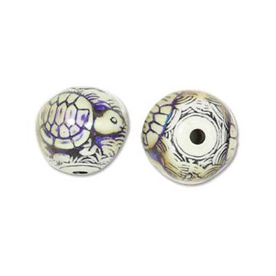Mood Mirage Beads Color Changing Beads 43802 (5), Turtle Beads, 17mm, Large Hole