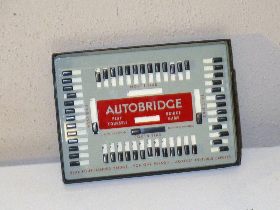 Vintage 1957 AUTOBRIDGE  --PLAY YOURSELF BRIDGE GAME--  Advanced Set