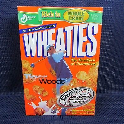 Wheaties Tiger Woods 2000 PGA Tour Cereal Box