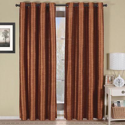 Rust Geneva Multi-layer Grommet Blackout Window Curtain Panel