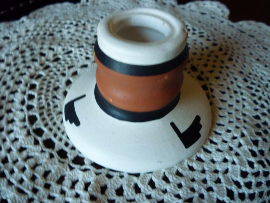 Navajo Kwahu Potters Candle Stick Holder Signed On Bottom